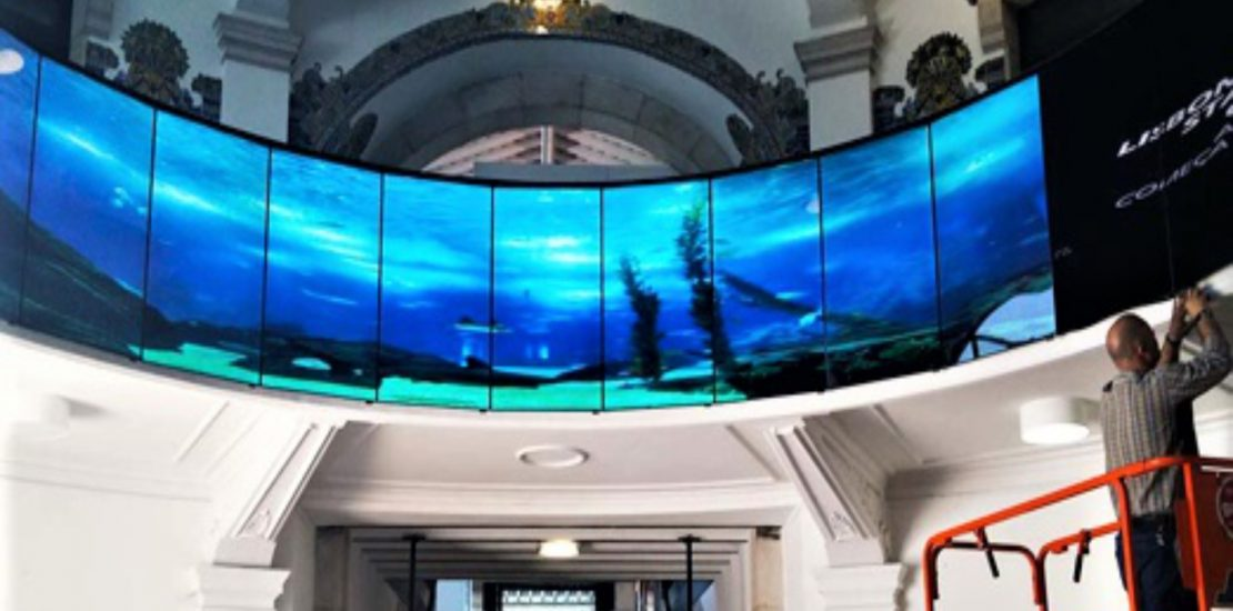 The Audiovisual Company integrated videowall 360º